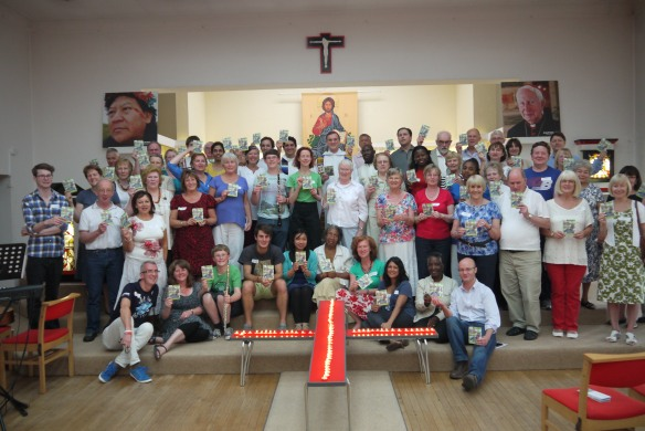 CAFOD volunteers with Bhp John Mass