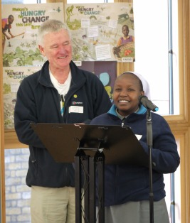 CAFOD Diocesan Manager Jim Simmons introduces Sister Pauline from Kenya