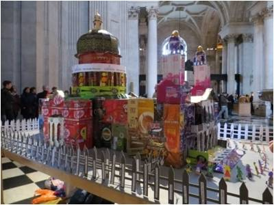 St Pauls Cathedral made of Fairtrade Goods