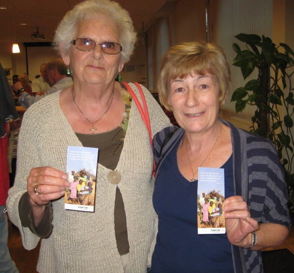 Holy Family CAFOD Group members Mary Tempenny and Bridie Nash