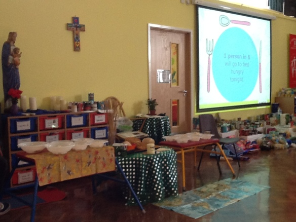 St Thomas More's Harvest display