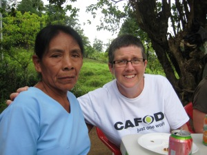Mercedes Garcia with Ann Wilson CAFOD Volunteer