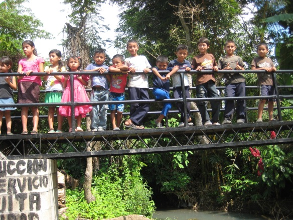 A safe bridge for children to get to school.