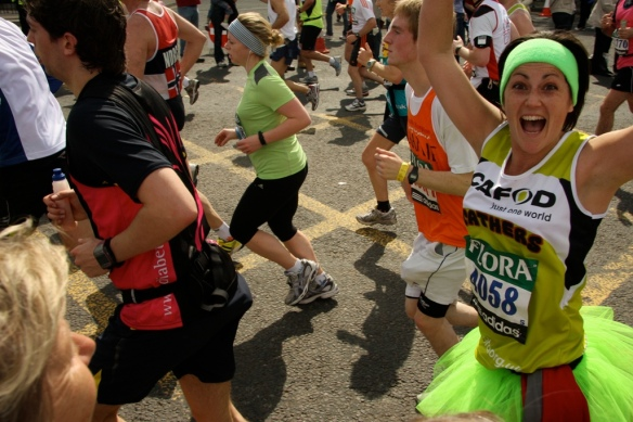A team CAFOD Runner in the London Marathon (credit: CAFOD)