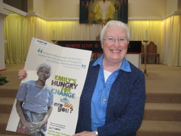 Sister Carmel Ring shows her support for Hungry for Change