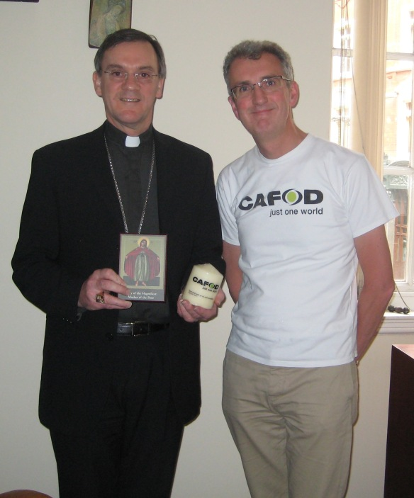 Bishop John Arnold sends his support to CAFOD Partners a 007