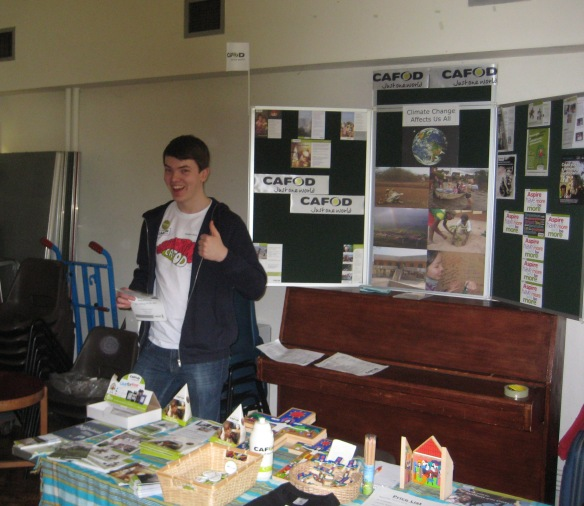 Schools Volunteer Stephen Bone representing CAFOD at a recent event
