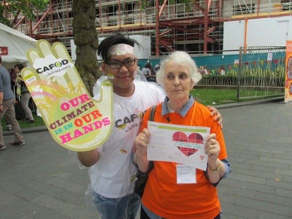 Volunteer Jay and festival goer Sr Annie from Birmingham share why they think we should take action on climate change