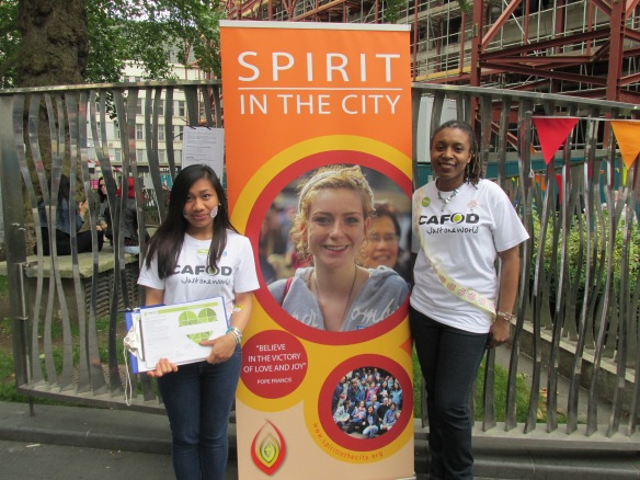 Alana and Patricia represent CAFOD at Spirit in the City
