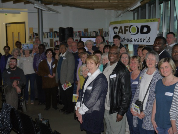 More than 50 people were on hand to greet CAFOD's friends from Sebeya, Ethiopia