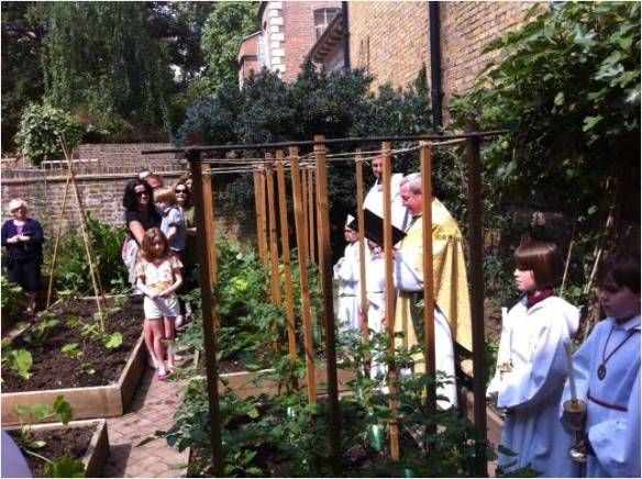 Rogation Sunday Blessing in the kitchen garden  3