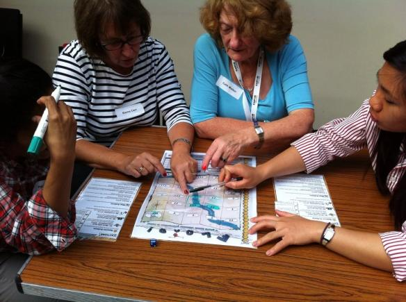Volunteers try to prevent disaster in our exciting new game for schools, Flood!