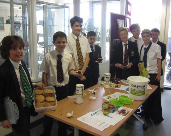 Students at St Columba's College, St Albans, held a cake sale for CAFOD.