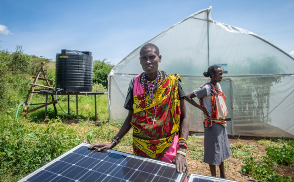 A solar-powered greenhouse in Isolo Diocese, Kenya