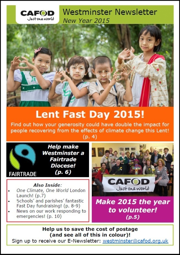 New Year 2015 Newsletter Cover