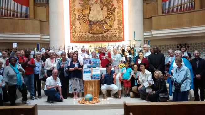 Refugee Week Lampedusa Cross CAFOD Justice and Peace Notre Dame de France Year of Mercy