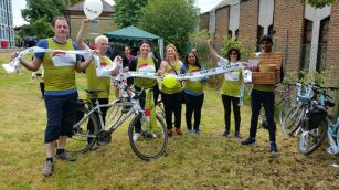 CAFOD Pedal Against Poverty Team St John Fisher