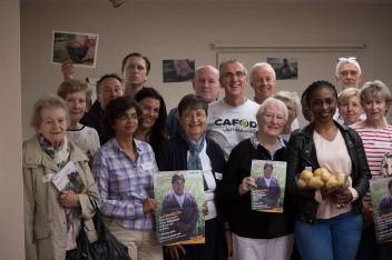 CAFOD Westminster Harvest Fast Day Hands On Bolivia Nicanora. Thank you to all our CAFOD Volunteers, happy Volunteers Week 2017