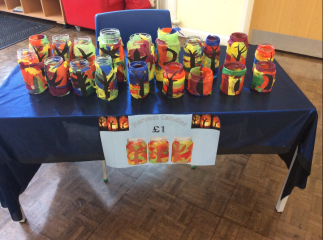 St Anne's Catholic Primary School fundraising Harvest Candles