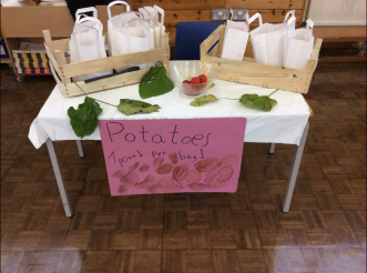 St Anne's Catholic Primary School fundraising for CAFOD Harvest Fast Day