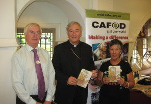 Michael Walsh with Cardinal Vincent Michael and Maureen as part of the Climate Campaign.