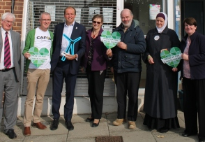 Speak Up lobby- (Left to right) Michael Walsh , Tony Sheen, Conservative MP David Burrowes, Christine Allen, Billy Lynton, Harfiyah Haleem and Louise