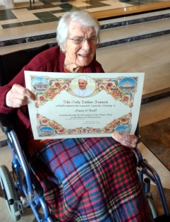Mary O'Neil Papal Blessing with Certificate
