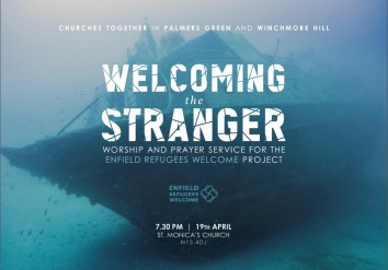 Welcoming the Stranger, worship, pray, refugee service