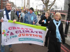 John Mooney attending the Climate for Justice campaign march