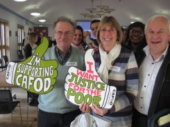CAFOD Volunteers David Brinsden and Lesley Waite