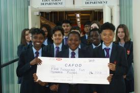 Douay Martyrs students raise money for CAFOD
