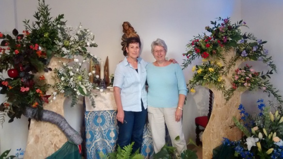 Garden of Eden by Heather Houston on the right with Lina Iannone fellow organiser