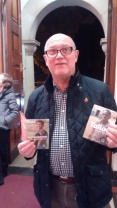 Volunteer Steve Carrivick with Power To Be campaign cards