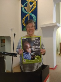 Maureen Mogg CAFOD Volunteer Speaking at Mass Lent 2018