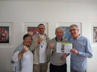 Richard celebrating 5 years Volunteering for CAFOD
