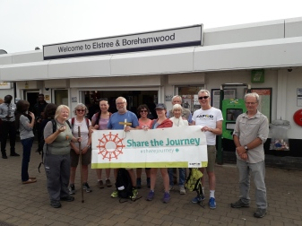 CAFOD Volunteer Ann with fellow volunteers taking part in Share the Journey London LOOP walk