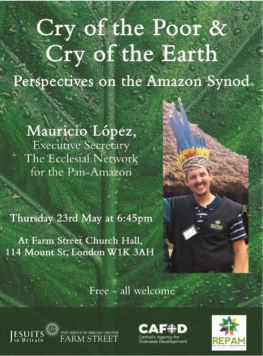 Cry of the Poor & Cry of the Earth talk poster