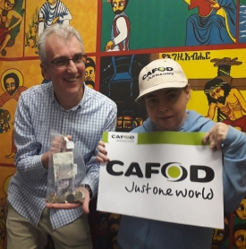 Anne McGoohan with CAFOD Community Participation co-ordinator Tony Sheen