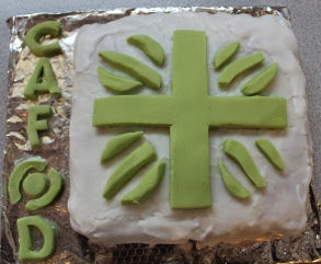 CAFOD cake made by St Columbas College
