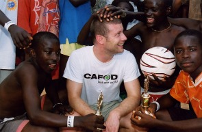 Dermot O'Leary visiting Sierra Leone with CAFOD